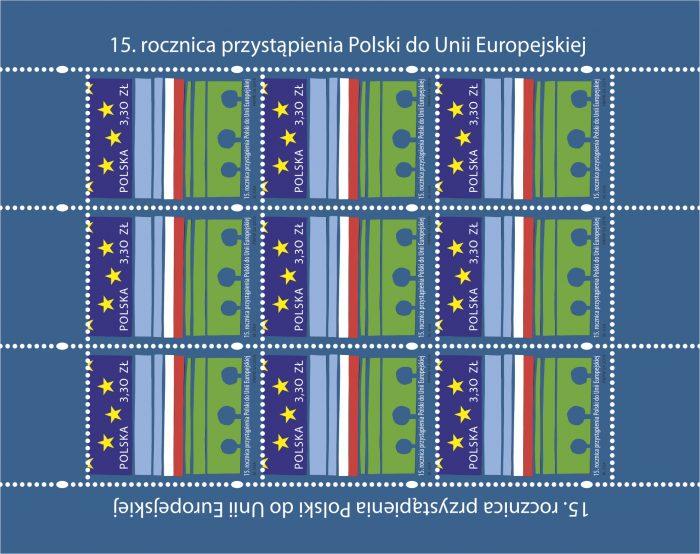 fe2d135a6898b8 Poczta Polska uczciła 15. rocznicę wstąpienia Polski do UE okolicznościowym  znaczkiem