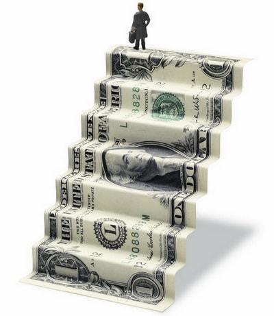 Najlepszy miesiąc dolara od 2016 r. - banknot jednodolarowy w formie schodówk