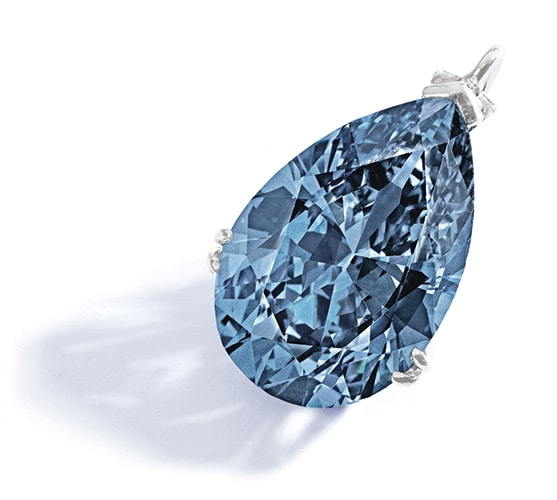 The Mellon Blue Diamond, źródło  Sotheby's