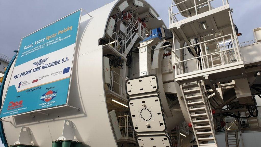 tunel pod Łodzią wydrąży ta tarcza TMB - zdjęcie czoła maszyny