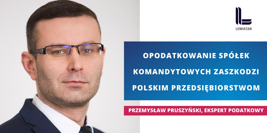 Sejm opodatkowując spółki komandytowe uderzył w firmy rodzinne- inforgrafika ze zdjęciem mężczyzny