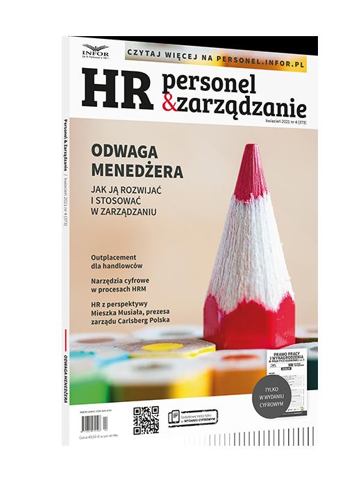 W jaki sposób pandemia przyczyniła się do bycia odważnym w biznesie? - okładka magazynu HR Personel i zarządzanie.