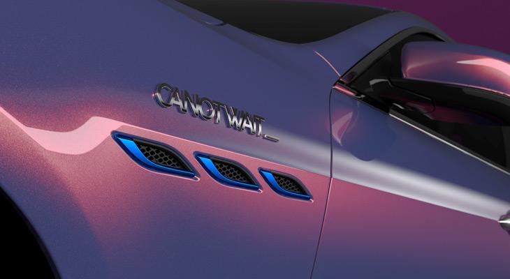Maserati łączy siły z CANOTWAIT - maska auta w kolorze fioletu