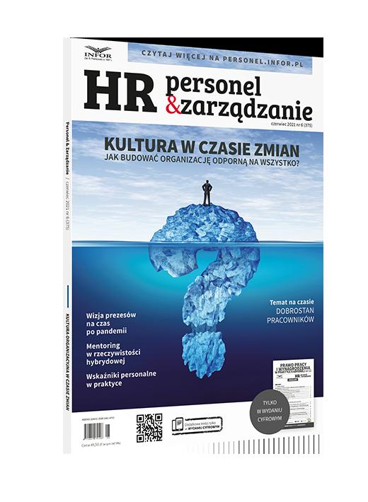 Pod rękę z partnerem, czyli o mentoringu w rzeczywistości hybrydowej- okładka magazynu HR Personel&Zarządzanie
