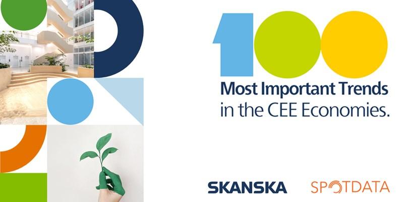 """7 trendów napędzających rozwój polskiej gospodarki - okładka raportu  """"100 najważniejszych trendów w gospodarkach Europy Środkowo-Wschodniej"""""""