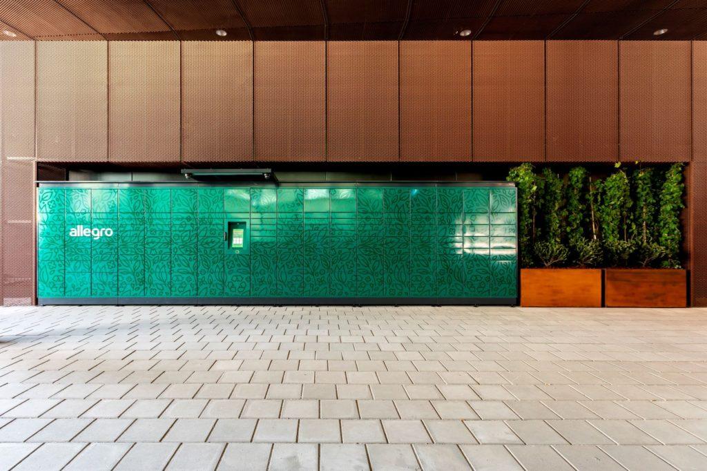 Ekologiczne paczkomaty od Allegro - paczkomaty w przestrzeni miejskiej