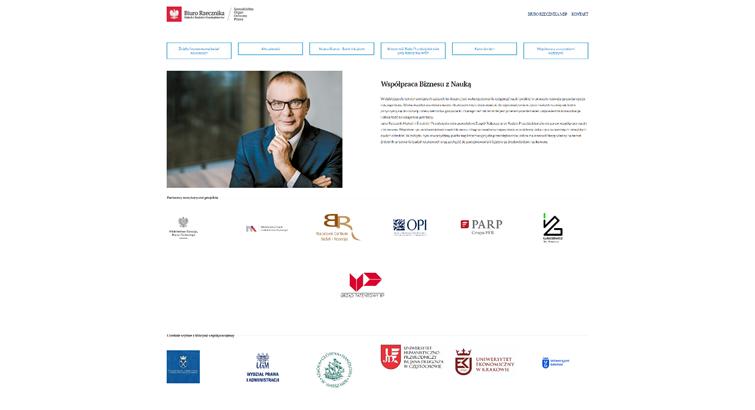 Biznes i nauka - dobrana para. Ruszył nowy portal informacyjny - screen ekranu komputer z widokiem strony www portalu informacyjnego.