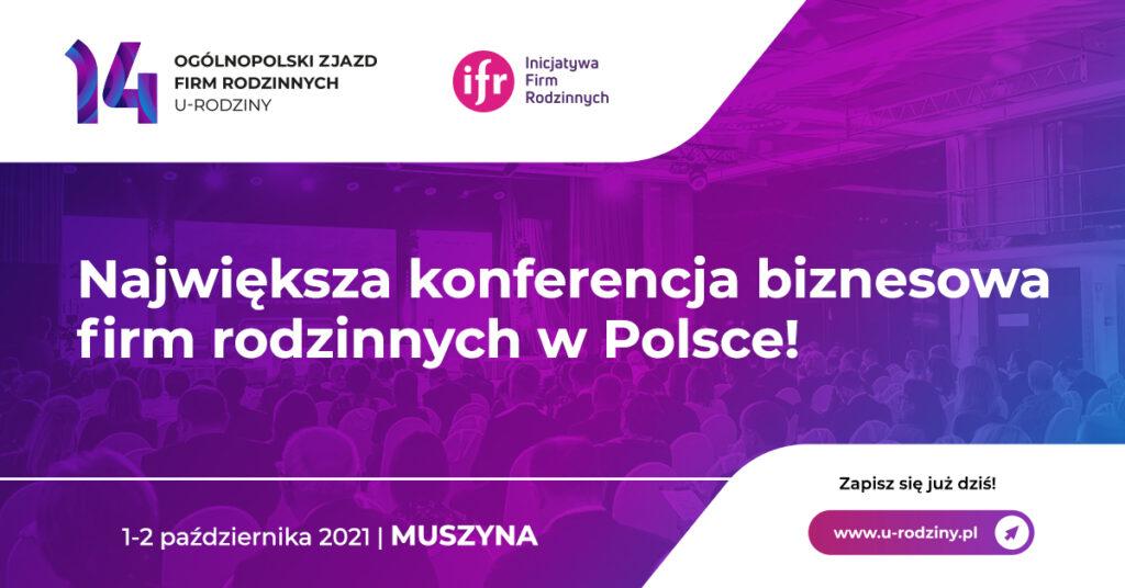 14. Ogólnopolski Zjazd Firm Rodzinnych zawita do Muszyny - grafika do wydarzenia, największa konferencja biznesowa firm rodzinnych w Polsce.