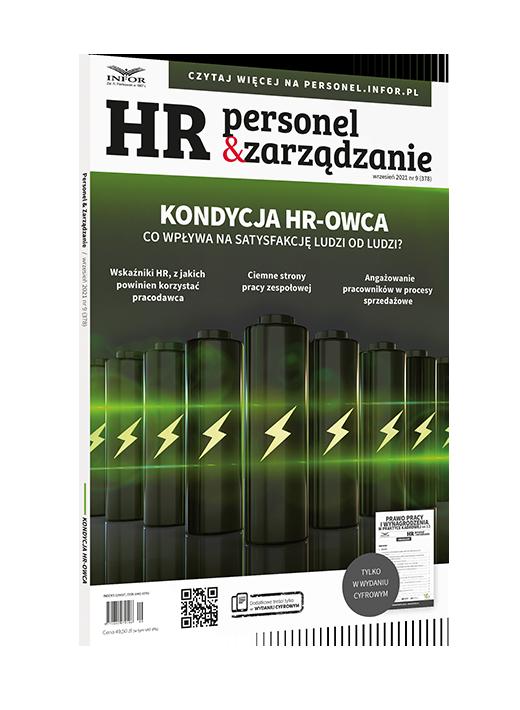 Odwaga w naszej profesji jest koni - okładka magazynu HR Personel i Zarządzanieeczna. Rozmowa z Iwoną Wencel, autorką książki #HROdNowa