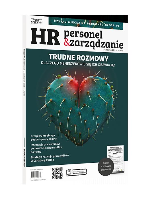 W nowy czas wchodzimy z nową energią -  okładka magazynu HR Personel i Zarządzanie.